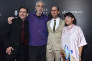 Executive producer Joey Horvitz and directors Phillip Noyce, Jon Goldman and Satsuki Okawa arrive to The Weinstein Company and Lexus Present Lexus Short Films at The Regal Cinemas L.A. Live on July 30, 2014 in Los Angeles, California.