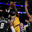 Wesley Matthews Milwaukee Bucks v Los Angeles Lakers