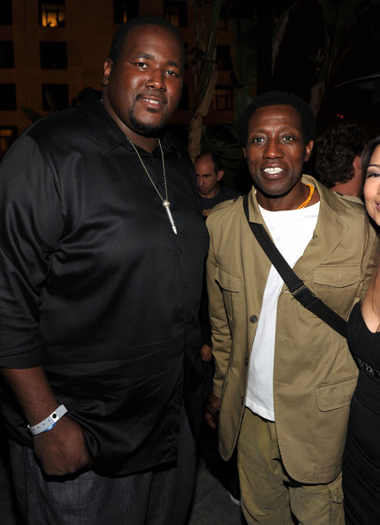 Photo de Wesley Snipes & son ami acteur  Quinton Aaron