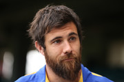 Josh Kennedy talks to the media during a West Coast Eagles AFL media opportunity at Subiaco Oval on September 24, 2018 in Perth, Australia.