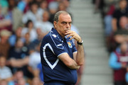 West Ham United manager Avram Grant looks thoughtful during the Barclays Premier League match between West Ham United and Blackburn Rovers at the Boleyn Ground on May 7, 2011 in London, England.