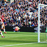 Lukasz Fabianski Photos - Marouane Fellaini of Manchester United gets in a chance on goal which is saves by Lukasz Fabianski of West Ham United during the Premier League match between West Ham United and Manchester United at London Stadium on September 29, 2018 in London, United Kingdom. - West Ham United vs. Manchester United - Premier League