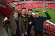 Kian Egan, Shane Filan, Mark Feehily and Nicky Byrne of Westlife announce first every show at Wembley Stadium on September 12, 2019 in London, England.