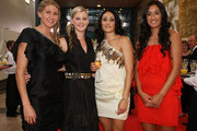 (L-R) Casey Williams, Katrina Grant, Joline Henry and Maria Tutaia of the Silver Ferns arrive at the Westpac Halberg Awards at the SkyCity Convention Centre on February 10, 2011 in Auckland, New Zealand.