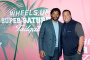 Russell Wilson and Kenny Dichter, Wheels Up founder and CEO at Wheels Up members-only Super Saturday Tailgate event on February 1, 2020 in Wynwood, Miami. The seventh-annual event featured a chalk talk hosted by prominent figures in sports and entertainment and interactive partnership activations.
