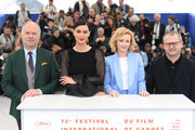 "Vlad IvanovCatrinel Menghia, Rodica Lazar, Director Corneliu Porumboiu attend the photocall for ""The Whistlers (La Gomera/ Les Siffleurs)"" during the 72nd annual Cannes Film Festival on May 19, 2019 in Cannes, France."