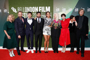 """(L-R) Tricia Tuttle, Ralph Fiennes, Oleg Ivenko, Andrew Levitas, Adele Exarchopoulos, Carolyn Marks Blackwood, Chulpan Khamatova, Gabrielle Tana and David Hare attend the UK Premiere of """"The White Crow"""" & Create Gala at the 62nd BFI London Film Festival on October 18, 2018 in London, England."""