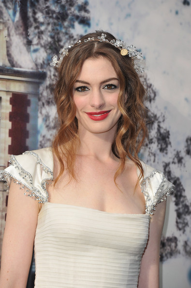 Anne Hathaway attends 'The White Fairy Tale Love Ball' in Support Of 'The Naked Heart Foundation' at Chateau de Wideville on July 6, 2011 in Crespieres, France.