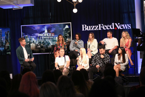 Buzzfeed News Presents 'The Hills' [david mack,audrina patridge,jason wahler,ashley wahler,frankie delgado,back l-r,profile,product,event,yellow,lighting,performance,stage,convention,crowd,night,media,buzzfeed news presents ``the hills,buzzfeed news presents ``the hills,front l-r]