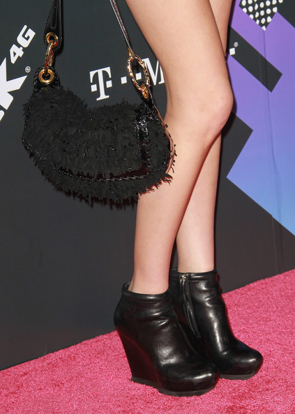Whitney Port Actress Whitney Port (purse & shoe detail) attends the T-Mobile Sidekick 4G launch event on April 20, 2011 in Beverly Hills, California.