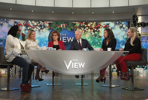 "ABC's ""Jimmy Kimmel Live"" - Season 15 [season,jimmy kimmel live,the view,photo,product,event,design,table,leisure,technology,architecture,recreation,advertising,vehicle,joe biden,lou rocco,sara haines,joy behar,airing,abc]"