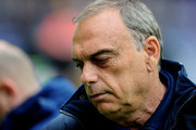 West Ham United Manager Avram Grant looks on prior to the Barclays Premier League match between Wigan Athletic and West Ham United at the DW Stadium on May 15, 2011 in Wigan, England.