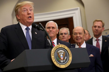 Wilbur Ross President Trump Participates In Signing of Space Policy Directive