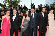 "(R to L) Producer Zeynep Ozbatur Atakan, actor Akin Aksu, actress Hazar Erguclu, actor Dogu Demirkol, writer Ebru Ceylan, and director Nuri Bilge Ceylan attends the screening of ""The Wild Pear Tree (Ahlat Agaci)"" during the 71st annual Cannes Film Festival at Palais des Festivals on May 18, 2018 in Cannes, France."