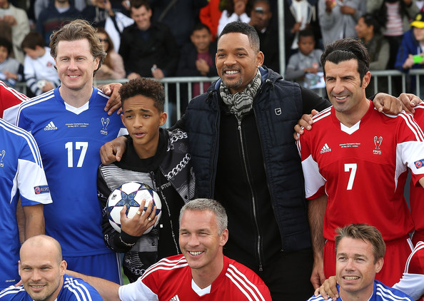 Jaden Smith and Will Smith attend UEFA's Champions Festival which comes to London to coincide with Wembley hosting the Champions League final at Queen Elizabeth Olympic Park on May 25, 2013 in London, England.  Jaden Smith and Will Smith are in London ahead of the release of their film 'After Earth'.