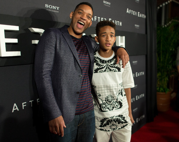 "Actors Will Smith and Jaden Smith attend the ""After Earth"" party at The 5th Annual Summer Of Sony at the Ritz Carlton Hotel on April 23, 2013 in Cancun, Mexico."