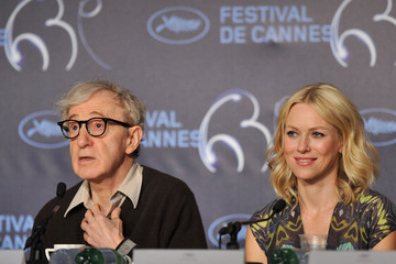 Woody Allen Naomi Watts You Will Meet A Tall Dark Stranger - Press Conference: Cannes Film Festival