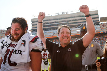 Will Muschamp South Carolina v Tennessee
