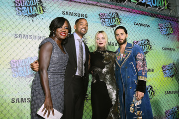 Will Smith Margot Robbie Samsung Celebrates the Premiere of 'Suicide Squad'