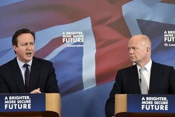 William Hague Conservatives Campaign In The Fourth Week Of The General Election