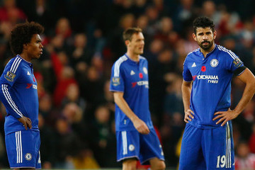 Willian Diego Costa Stoke City v Chelsea - Premier League