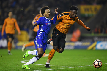 Willian Wolverhampton Wanderers v Chelsea - The Emirates FA Cup Fifth Round