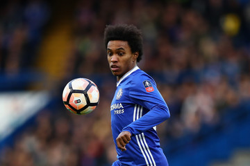 Willian Chelsea v Brentford - The Emirates FA Cup Fourth Round