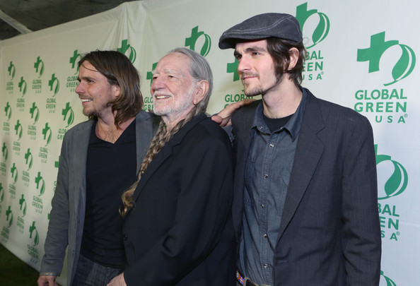 Willie Nelson And His Sons Lucas Autry Nelson (l) And Jacob Micah ...