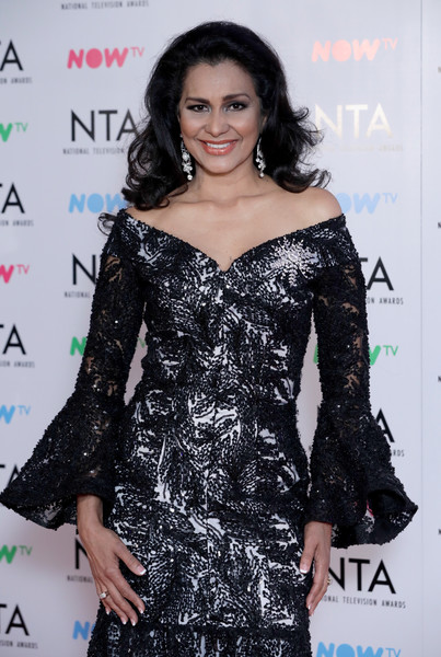 National Television Awards - Press Room [clothing,fashion model,shoulder,dress,fashion,hairstyle,cocktail dress,premiere,joint,black hair,wilnelia forsyth,national television awards,room,o2 arena,london,england]