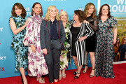 "Tina Fey, Maya Rudolph, Amy Poehler, Paula Pell, Rachel Dratch, Ana Gasteyer and Emily Spivey attend the ""Wine Country"" World Premiere at Paris Theatre on May 08, 2019 in New York City."