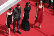 (L-R) Actress Melisa Sozen, director Nuri Bilge Ceylan, writer Ebru Ceylan and actress Demet Akbag attend the 'Winter Sleep' premiere during the 67th Annual Cannes Film Festival on May 16, 2014 in Cannes, France.