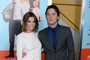Actress Ashley Greene (L) and director and actor Zach Braff attend the 'Wish I Was Here' screening at AMC Lincoln Square Theater on July 14, 2014 in New York City.