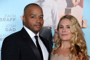 """Actor Donald Faison (L) and CaCee Cobb attend the """"Wish I Was Here"""" screening at AMC Lincoln Square Theater on July 14, 2014 in New York City."""