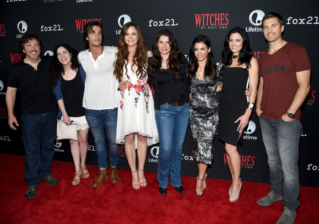 Julia Ormond Eric Winter Rachel Boston Madchen Amick Maggie Friedman Jenna Dewan Tatum Daniel Ditomasso Richard Hatem Madchen Amick And Jenna Dewan Tatum Photos Witches Of East End Season 2 Premiere