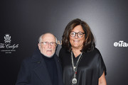 "Designer Stan Herman and Fern Mallis attend the ""Woman In Gold"" New York premiere at The Museum of Modern Art on March 30, 2015 in New York City."