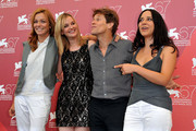"(L-R) Stefania Rocca, Jess Weixler, Willem Dafoe and Giada Dafoe attend ""A Woman"" photocall during the 67th Venice Film Festival at the Palazzo del Casino on September 4, 2010 in Venice, Italy."