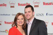TV Personality Caroline Manzo and her son Albie Manzo attend the Woman's Day Red Dress Awards on February 10, 2015 in New York City.