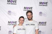 """Lauren Miller and Seth Rogen at The Women's Alzheimer's Movement And Equinox Fitness Clubs Host 2019 """"Move For Minds"""" at Equinox Sports Club Los Angeles on November 02, 2019 in Los Angeles, California."""