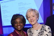 Acting Chairwoman of the Federal Communications Commission Mignon Clyburn and Assistant Secretary of State for Educational and Cultural Affairs, U.S. Department of State Ann Stock pose for a photo during the 2013 Women in Cable Telecommunications Signature Luncheon at Walter E. Washington Convention Center on June 10, 2013 in Washington, DC.