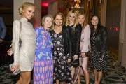 (L-R) Paris Hilton, Katie Couric, and Caroline Couric Monahan pose for portrait at The Women's Cancer Research Fund's An Unforgettable Evening 2020 at Beverly Wilshire, A Four Seasons Hotel on February 27, 2020 in Beverly Hills, California.