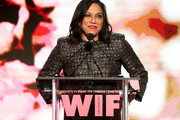 Director and The BMW Dorothy Arzner Directors Award Honoree Mira Nair, wearing Max Mara, speaks onstage at Women In Film 2017 Crystal + Lucy Awards presented By Max Mara and BMW at The Beverly Hilton Hotel on June 13, 2017 in Beverly Hills, California.