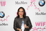 Director and The BMW Dorothy Arzner Directors Award Honoree Mira Nair, wearing Max Mara, attends the Women In Film 2017 Crystal + Lucy Awards presented By Max Mara and BMW at The Beverly Hilton Hotel on June 13, 2017 in Beverly Hills, California.