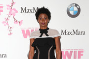 Actress Emayatzy Corinealdi attends the Women In Film 2017 Crystal + Lucy Awards presented By Max Mara and BMW at The Beverly Hilton Hotel on June 13, 2017 in Beverly Hills, California.