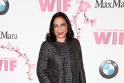 Director Mira Nair, wearing Max Mara, attends the Women In Film 2017 Crystal + Lucy Awards presented By Max Mara and BMW at The Beverly Hilton Hotel on June 13, 2017 in Beverly Hills, California.