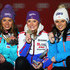 Anna Fenninger Tessa Worley Photos - Race winner Tessa Worley (C) of France celebrates at the medal ceremony with second placed Tina Maze (L) of Slovenia and third placed Anna Fenninger (R) of Austria following the Women's Giant Slalom during the Alpine FIS Ski World Championships on February 14, 2013 in Schladming, Austria. - Women's Giant Slalom - Alpine FIS Ski World Championships