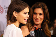 Kaia Gerber (L) and Cindy Crawford attend the Women's Guild Cedars-Sinai annual luncheon at the Regent Beverly Wilshire Hotel on November 06, 2019 in Beverly Hills, California.