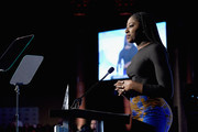 Basketball player Chiney Ogwumike speaks onstage at The Women's Sports Foundation's 38th Annual Salute To Women in Sports Awards Gala on October 18, 2017 in New York City.