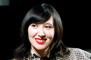 Musician Karen O speaks on stage after the Women Under The Influence Screening of Kenzo's Yo My Saint with Karen O and Ana Lily Amirpour at NeueHouse Hollywood on March 1, 2018 in Los Angeles, California.