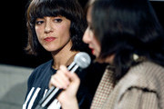 Director Ana Lily Amirpour (L) and musician Karen O speak on stage after the Women Under The Influence Screening of Kenzo's Yo My Saint with Karen O and Ana Lily Amirpour at NeueHouse Hollywood on March 1, 2018 in Los Angeles, California.