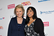 Tina Brown and Maya Harris attend the Women in the World Summit 2013 on April 4, 2013 in New York, United States.